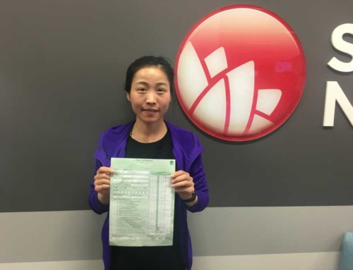Ms.Qin Passed the Road Test, Congrats!